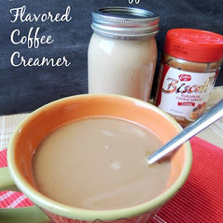 Homemade Biscoff Flavored Coffee Creamer.