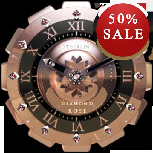 D Rose Analog Clock Widget
