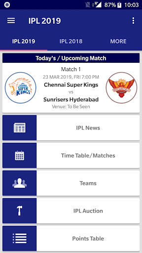 IPL 2019 News Time Table 3.10 screenshots 1