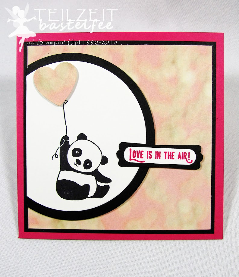 Stampin' Up! - In{k}spire_me #351, Sketch Challenge, Party Pandas, Abgehoben, Lift me up, Square, Love, Liebe