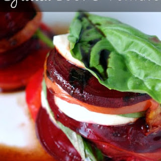 Grilled Beet & Tomato Caprese Stacks