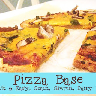 Gluten, Grain and Diary Free Pizza Base.