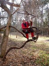 Photo: Doug playing on the vines