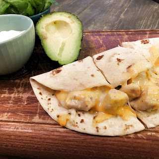 THREE-CHEESE CHICKEN QUESADILLAS
