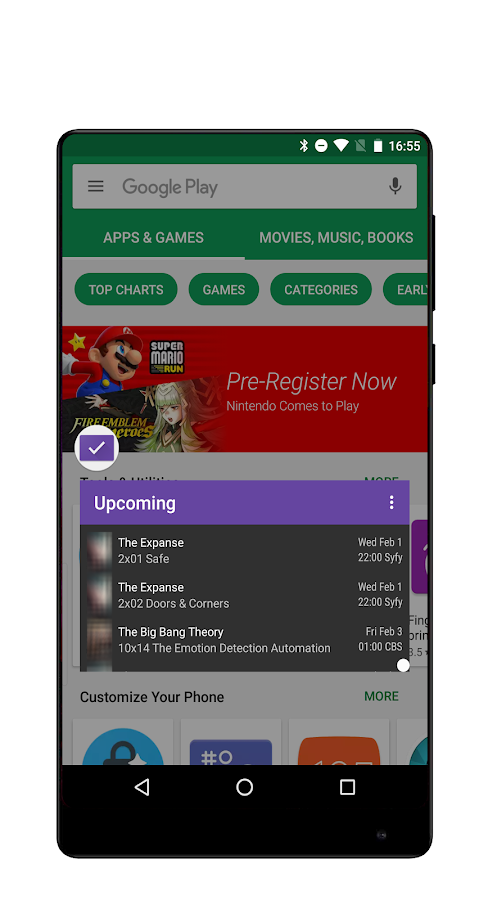 Meteor Swipe - Edge Launcher- screenshot