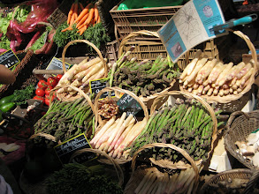 """Photo: There was a nice market in Beaune.  French markets, which sell everything, are being introduced around Chicago as an alternative to the """"producer only"""" model."""