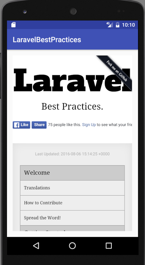 Laravel Best Practices (Unreleased)- screenshot