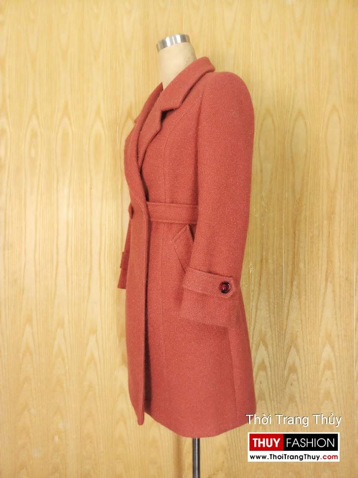Áo khoác dạ nữ dáng dài qua mông V655 thời trang thủy hải phòng