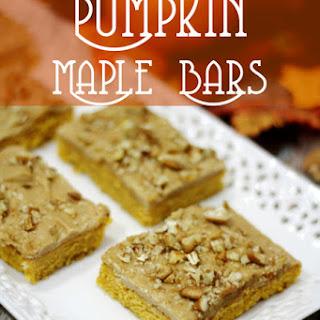 Pumpkin Maple Bars