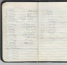 Photo: Field notebook of Doug McPhee.  4th Platoon A/1/5
