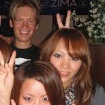 making new friends at grand cafe in osaka in Osaka, Osaka, Japan