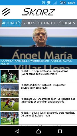 android Résultats sportifs en live Screenshot 0