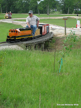 Photo: Larry Bailey with BNSF 2008 at Cabin Creek.  HALS-SLWS 2009-0523