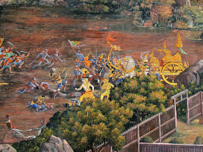 Photo: mural of the Ramakien, Thai version of the Ramayana