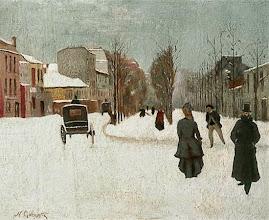 "Photo: Goeneutte Norbert, ""Boulevard de Clichy coperto di neve"" (1876)"