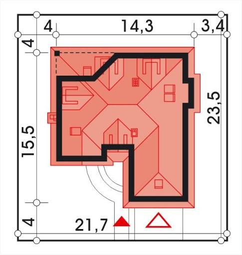 Lawenda II wersja A z piwnicą - Sytuacja