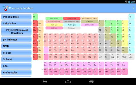 Chemistry Toolbox - Full screenshot 6