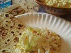 Coleslaw Eggsalad On Flatout Bread Recipe