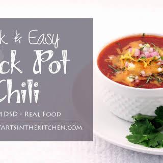 Quick Crock Pot Chili.