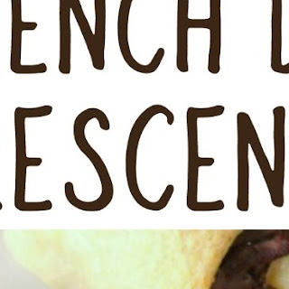 French Dip Crescents with Easy Au Jus.