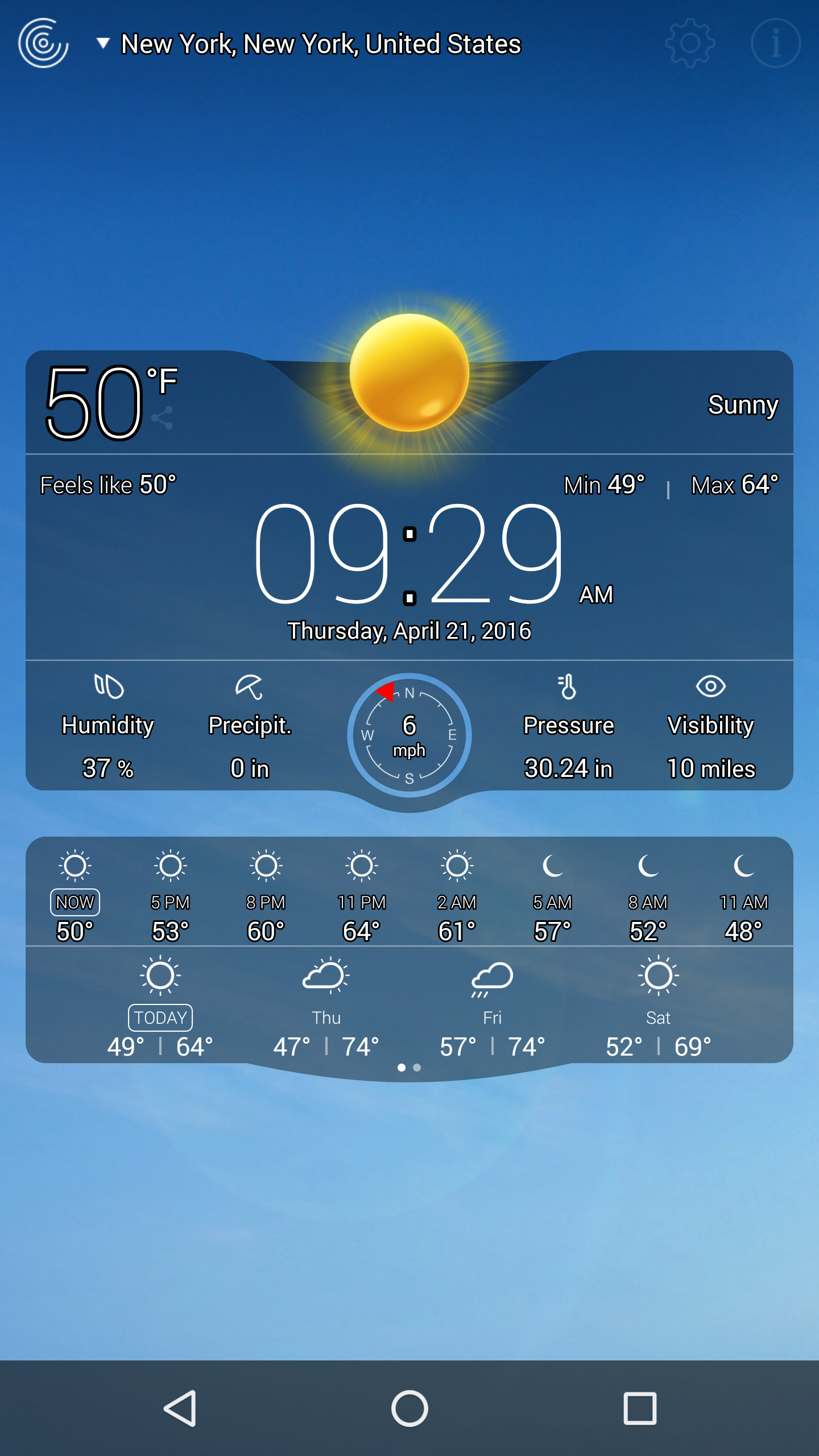 Weather Live Free screenshot #8