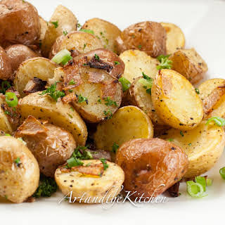 Parmesan Oven Roasted Potatoes.