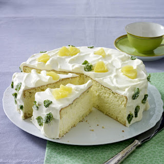 Pineapple and Mint Cake.