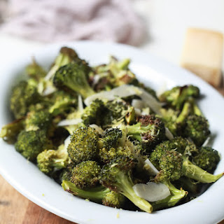 Roasted Broccoli with Parmesan Lemon Butter Sauce.