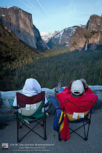 Photo: Taking in the View At Yosemite National Park These folks were well prepared to take in sunset at the Tunnel View lookout in Yosemite National Park. Unfortunately for them the sunset wasn't as grand as I've seen in the past and for whatever reason on this day there were tons of contrails in the sky. None the less it was still a great view to take in.  BTW this is what the view looks like with out SOPA. Referring to my earlier post of this image https://plus.google.com/u/0/103486150650858067282/posts/1DaCbp7V3tS