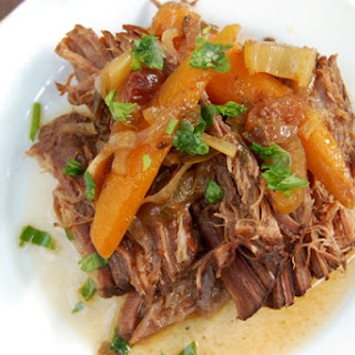 Crockpot Sweet and Sour Brisket.