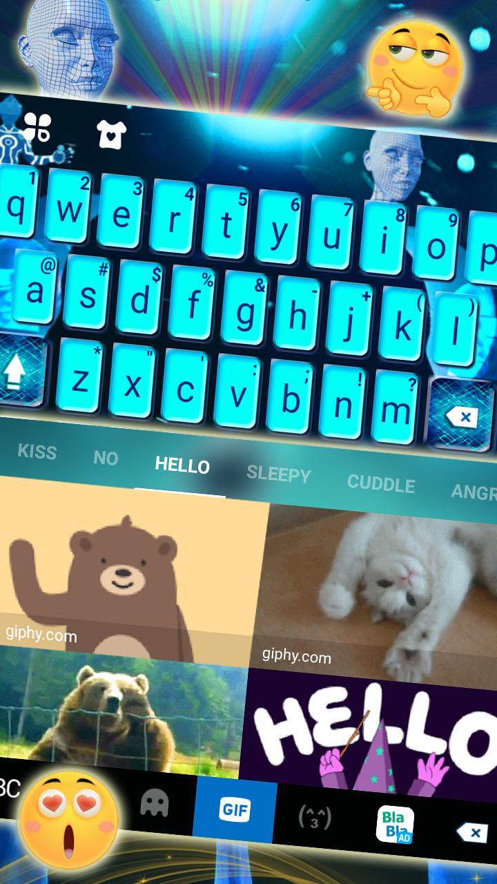 Скриншот тема для клавиатуры VR Tech