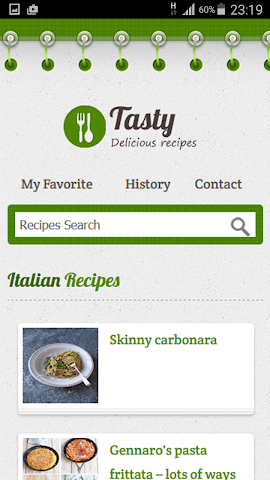 android Italian Recipe Screenshot 0