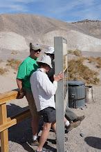 Photo: Salt Creek Interpretive Trail: Diane, Dick, and Joanie try to find a bit of shade.