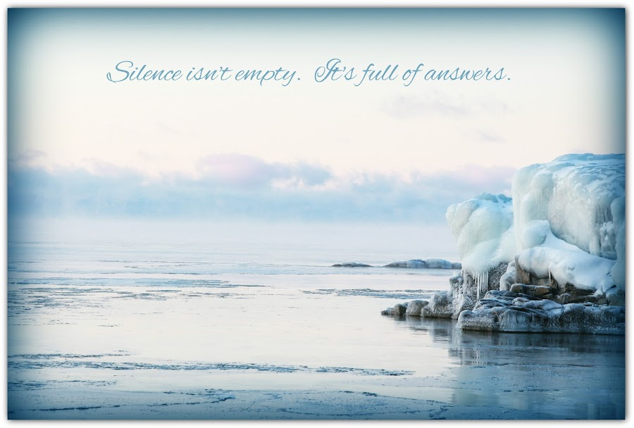 Learn in Silence by Tammy Drombolis - Typography Captioned Photos ( quote, caption, lake superior, silence, lake )