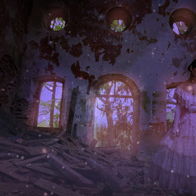 My Home... by Ilkgul Caylak - Digital Art Things ( amazing, cool, old, girl, awesome, woman, beautiful, dramatic, nice, rusty, house, rust )
