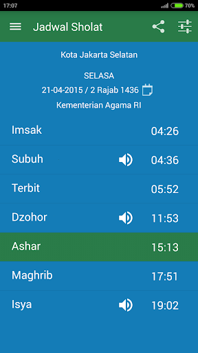 Jadwal Sholat Indonesia - Kiblat, Adzan, Tasbih 1.1.7 screenshots 1