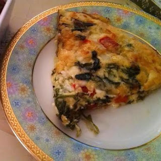 Parmesan-spinach Quiche.