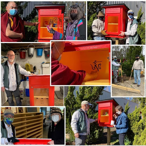 Kadampa Center Creates a Little Free Pantry Outside of Their Center