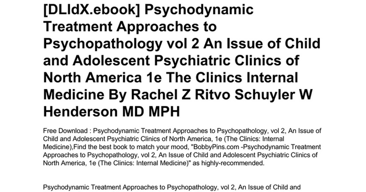 Psychopharmacology | free audio books downloads sites.