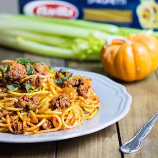 Pumpkin Spaghetti Bolognese.