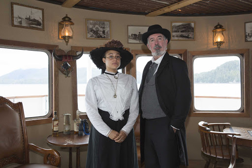 Uncruise-SSLegacy-Heritage-Guides.jpg - Heritage guides on UnCruise Adventures are part of the package — part education, part entertainment.