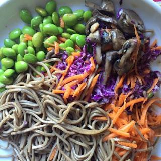 Japanese Vegan Soba Noodle Bowl Mason Jar Salad