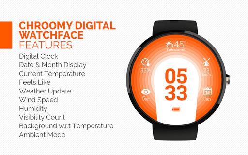 Chroomy Watch Face For Moto360