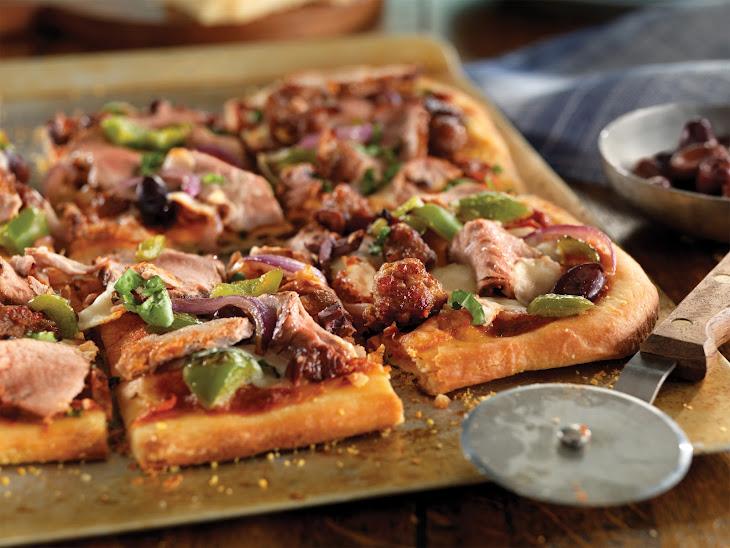 Pork Tenderloin and Sausage Flatbread Recipe