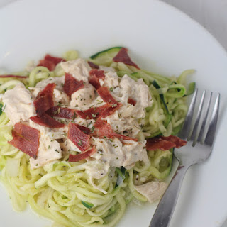Chicken Bacon Ranch Zucchini Noodles