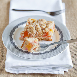 German Peach Streusel Cake.