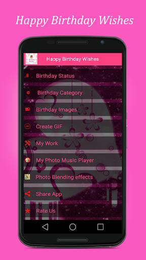 Happy Birthday Status - Wishes Images,GIF  screenshots 1