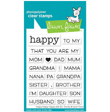 Lawn Fawn Clear Stamps 3X4 - Happy Happy Happy Add-On: Family