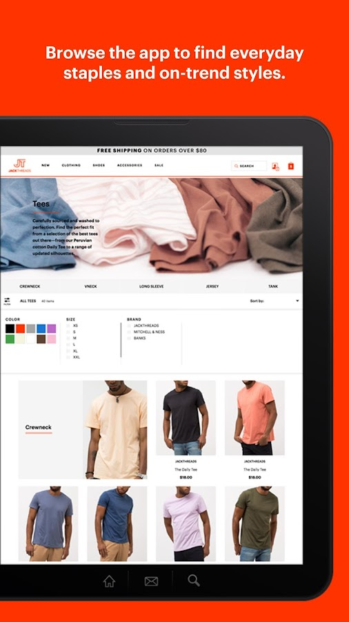 JackThreads: Men's Shopping- screenshot