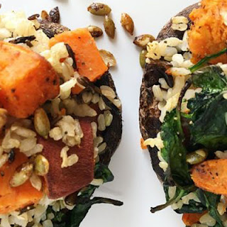 Sweet Potato Stuffed Mushrooms